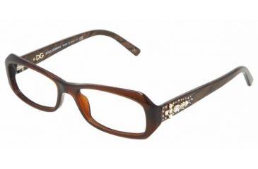 Dolce&Gabbana DG 3082G Eyeglasses Styles - Brown Frame w/Non-Rx 52 mm Diameter Lenses, 1582-5216