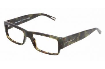 Dolce&Gabbana DG 3103 Eyeglasses Styles - Green Havana Frame w/Non-Rx 53 mm Diameter Lenses, 1735-5317