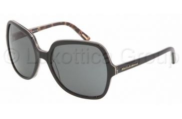Dolce&Gabbana DG 4098 Sunglasses Styles - Animal Black Gray Frame, 175087-5818