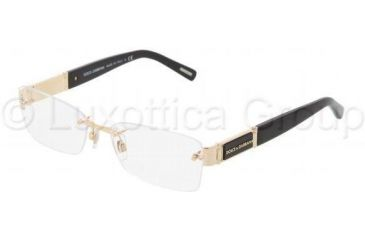 Dolce&Gabbana DG1210 Single Vision Prescription Eyewear 1040-5417 - Gold