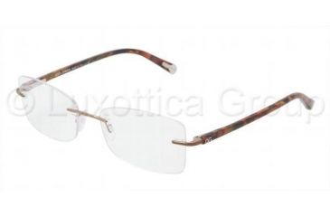 Dolce&Gabbana DG1222 Eyeglass Frames 1111-5217 - Brown Frame