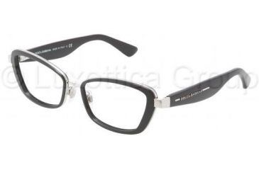 Dolce&Gabbana DG1225 Single Vision Prescription Eyeglasses 05-5117 - Silver Frame