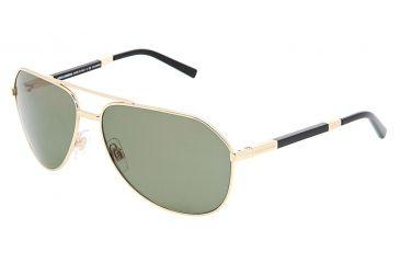 Dolce&Gabbana DG2073K Sunglasses 102758-6114 - Gold Crystal Green Polarized