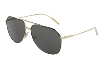5a45e8ee90b Dolce Gabbana DG2166 Sunglasses 130587-61 - Black pale Gold Frame