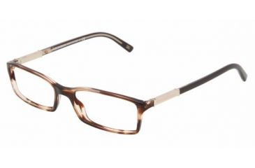 Dolce & Gabanna DG3096 #1729 - Striped Brown Frame, Demo Lens Lenses