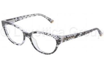 Dolce&Gabbana DG3116 Progressive Prescription Eyeglasses 1901-5316 - Black Lace