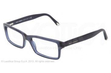 Dolce&Gabbana DG3123 Single Vision Prescription Eyeglasses 1850-5217 - Transparent Blue Demo Lens Frame