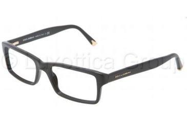 Dolce&Gabbana DG3123 Single Vision Prescription Eyeglasses 501-5417 - Black Frame
