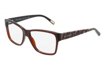 Dolce&Gabbana DG3126 Eyeglass Frames 1830-5215 - Brown Frame