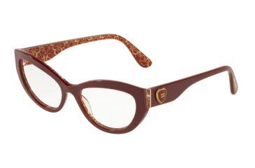 ac6412411caf Dolce&Gabbana DG3306 Prescription Eyeglasses 3205-54 - Bordeaux On Damascus  Glitter