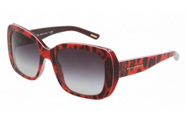 Dolce & Gabanna DG4101 #17528G - Animal Red Gray Gradient Frame
