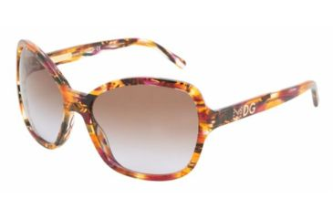 Dolce & Gabanna DG4107 #181268 - Violet / Orange Brown Gradient Violet Frame