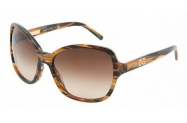 Dolce & Gabanna DG4107 #181313 - Gold / Black Brown Gradient Frame