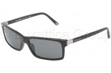 Dolce&Gabbana DG4122 Single Vision Prescription Sunglasses DG4122-501-87-5716 - Lens Diameter 57 mm, Frame Color Shiny Black