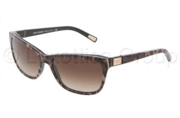 Dolce&Gabbana DG4123 Sunglasses 199513-5717 - Brown Leopard Frame, Brown Gradient Lenses