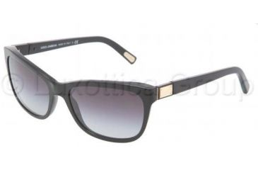 Dolce&Gabbana DG4123 Sunglasses 501/8G-5717 - Black Gray Gradient