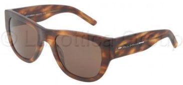 Dolce&Gabbana DG4127 Progressive Prescription Sunglasses DG4127-251873-5321 - Frame Color Matte Brown, Lens Diameter 53 mm
