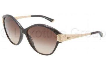 Dolce&Gabbana CROCODILE DG4130 Single Vision Prescription Sunglasses DG4130-196513-6014 - Lens Diameter 60 mm, Frame Color Brown Marble