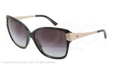 Dolce&Gabbana CROCODILE DG4131 Single Vision Prescription Sunglasses DG4131-19638G-5915 - Lens Diameter 59 mm, Frame Color Black Marble