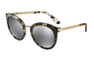 Dolce Gabbana DG4268 Sunglasses 28886G-52 - Cube Havana Fog Frame, Grey  Mirror Black Lenses 0de23f3c6fe1