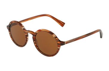 da3f22fe84d Dolce Gabbana DG4342 Sunglasses 318973-49 - Striped Orange Frame