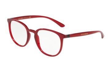 05eeb936f6 Dolce Gabbana DG5033 Eyeglass Frames 1551-50 - Transparent Bordeaux Frame