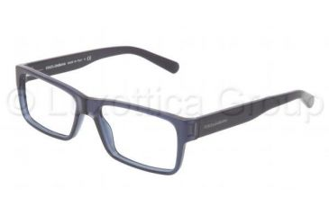 Dolce&Gabbana Discovery the unexpected DG3132 Progressive Prescription Eyeglasses 1850-5316 - Transparent Blue Demo Lens Frame