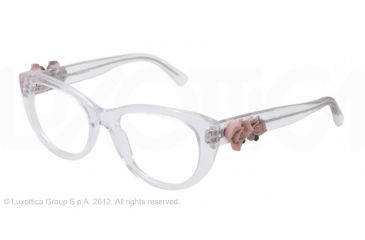 Dolce&Gabbana FLOWERS DG3163 Eyeglass Frames 656-50 - Crystal Frame