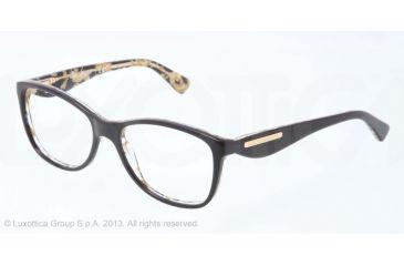 Dolce&Gabbana GOLD LEAF DG3174 Eyeglass Frames 2744-52 - Top Black On Leaf Gold Frame