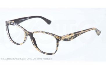 Dolce&Gabbana GOLD LEAF DG3174 Eyeglass Frames 2745-52 - Leaf Gold On Black Frame