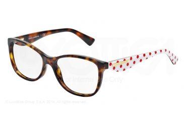 Dolce&Gabbana GOLD LEAF DG3174 Eyeglass Frames 2878-52 - Havana Frame