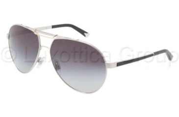 Dolce&Gabbana Iconic evolution DG2105 Sunglasses 05/8G-6014 - Silver Frame, Gray Gradient Lenses