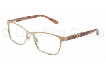 Dolce&Gabbana ICONIC LOGO DG1244P Bifocal Prescription Eyeglasses 1227-5116 - Pale Gold Frame