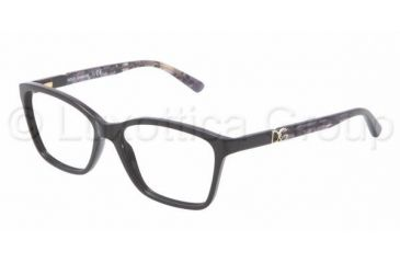 Dolce&Gabbana ICONIC LOGO DG3153P Progressive Prescription Eyeglasses 2688-5215 - Black Frame