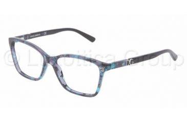 Dolce&Gabbana ICONIC LOGO DG3153P Progressive Prescription Eyeglasses 2689-5215 - Blue Marble Frame, Clear Lenses