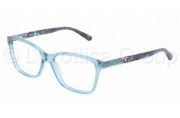 Dolce&Gabbana ICONIC LOGO DG3153P Progressive Prescription Eyeglasses 2691-5215 - Azure Frame