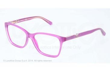 Dolce&Gabbana ICONIC LOGO DG3153P Progressive Prescription Eyeglasses 2772-52 - Top Crystal On Pearl Violet Frame