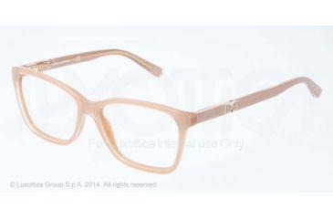 Dolce&Gabbana ICONIC LOGO DG3153P Progressive Prescription Eyeglasses 2773-52 - Top Crystal On Pearl Sand Frame