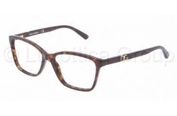 Dolce&Gabbana ICONIC LOGO DG3153P Progressive Prescription Eyeglasses 502-5215 - Havana Frame