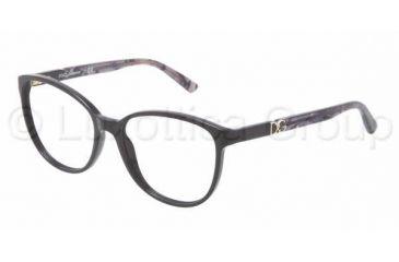 Dolce&Gabbana ICONIC LOGO DG3154P Single Vision Prescription Eyeglasses 2688-5216 - Dark Steel Frame