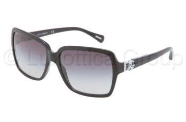 Dolce&Gabbana ICONIC LOGO DG4164P Sunglasses 501/8G-5816 - Black Frame, Gray Gradient Lenses