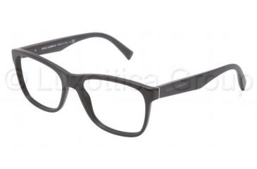 Dolce&Gabbana INTEGRATED FLEX HINGE DG3144 Single Vision Prescription Eyeglasses 1934-5317 - Matte Black Frame