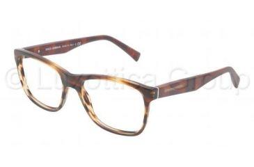 Dolce&Gabbana INTEGRATED FLEX HINGE DG3144 Bifocal Prescription Eyeglasses 2673-5317 - Matte Striped Brown Frame, Demo Lens Lenses