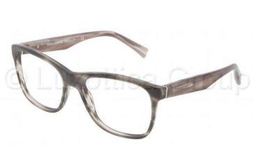 Dolce&Gabbana INTEGRATED FLEX HINGE DG3144 Bifocal Prescription Eyeglasses 2674-5317 - Matte Striped Gray Frame, Demo Lens Lenses