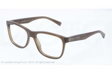 Dolce&Gabbana INTEGRATED FLEX HINGE DG3144 Eyeglass Frames 2763-53 - Matte Olive Frame