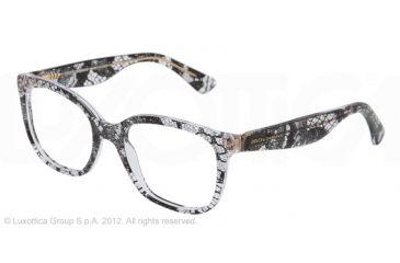 Dolce&Gabbana LACE DG3165 Eyeglass Frames 1901-52 - Black Lace Frame