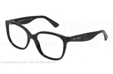 Dolce&Gabbana LACE DG3165 Eyeglass Frames 501-52 - Black Frame