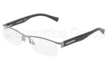 Dolce&Gabbana LIFESTYLE DG1239 Single Vision Prescription Eyeglasses 1130-5117 - Matte Gunmetal Frame