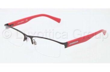 Dolce&Gabbana LIFESTYLE DG1239 Single Vision Prescription Eyeglasses 1178-5117 - Matte Black Frame