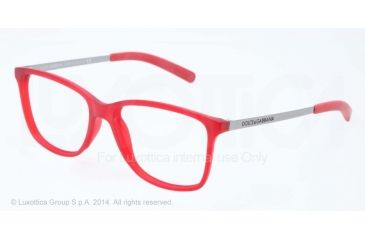 Dolce&Gabbana LIFESTYLE DG5006 Bifocal Prescription Eyeglasses 2618-54 - Red Demi Transparent Rubber Frame